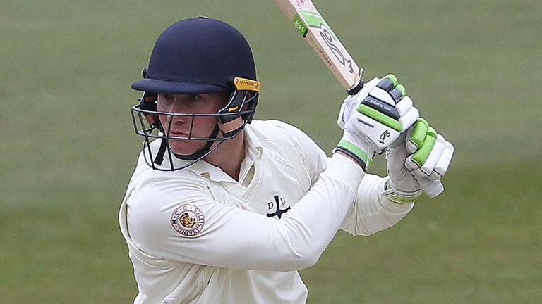 Chris Benjamin marked his County Championship debut with a century for Warwickshire against Lancashire