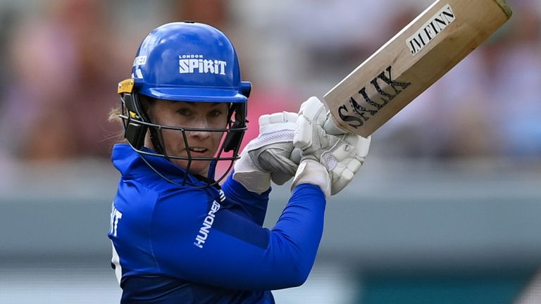 Tammy Beaumont provided the only real resistance for London Spirit as they failed to see out their 100 balls