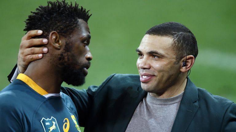 Habana embraced Springbok skipper Siya Kolisi on the pitch at full-time of the second Test
