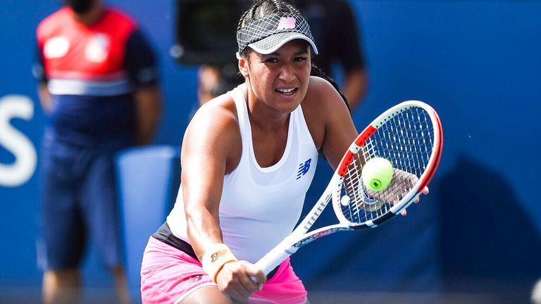 Heather Watson set up a clash against world No 1 Ashleigh Barty after coming through qualifying before winning her first-round match