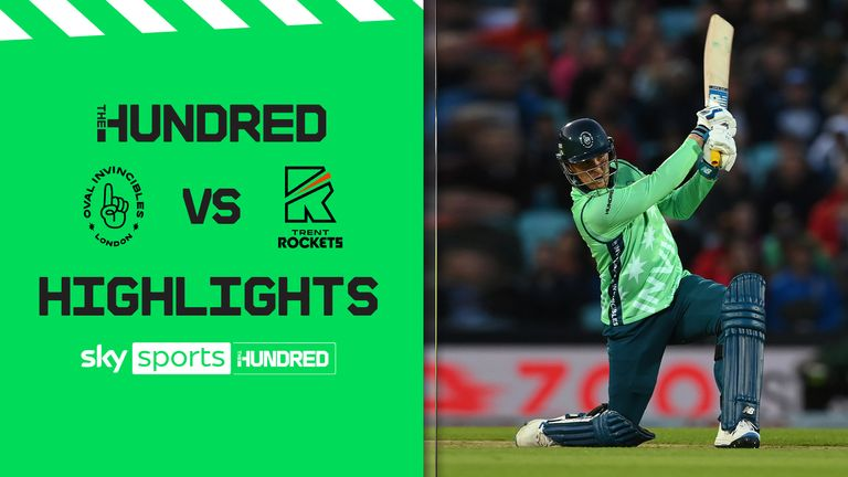Highlights of the Oval Invincibles against the Trent Rockets in an epic 65-ball match.