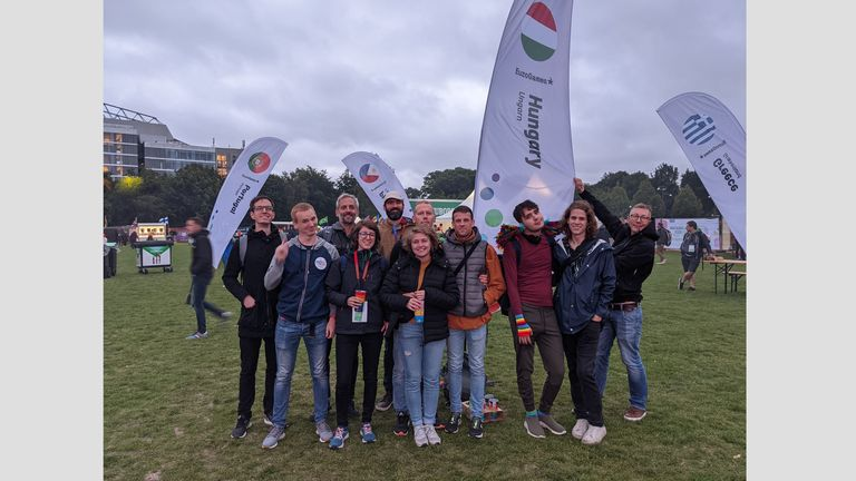 Szekeres was in attendance with some of her fellow Hungarian athletes and supporters at the opening ceremony