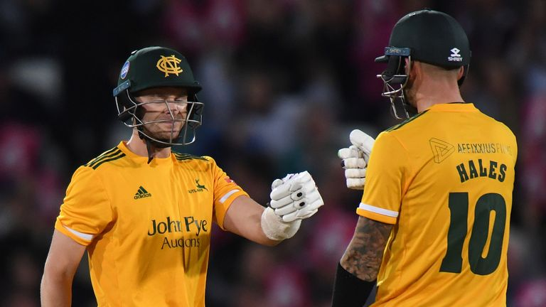 Joe Clarke and Alex Hales gave the Outlaws a flying start