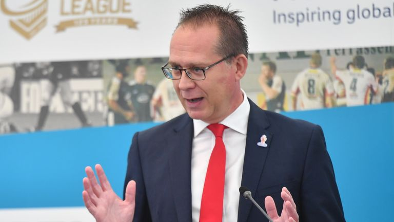 Rugby League World Cup chief executive Jon Dutton says they had to put the considerations of players at the centre of their decision to postpone the tournament