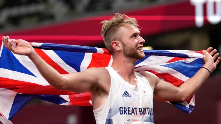 Josh Kerr was elated after winning bronze and spent moments just taking it all in inside the Olympic Stadium