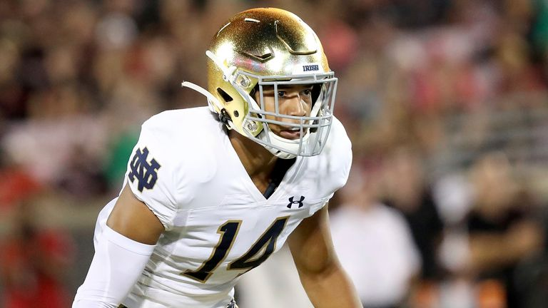 You can watch Kyle Hamilton's Notre Dame live on Sky Sports this season