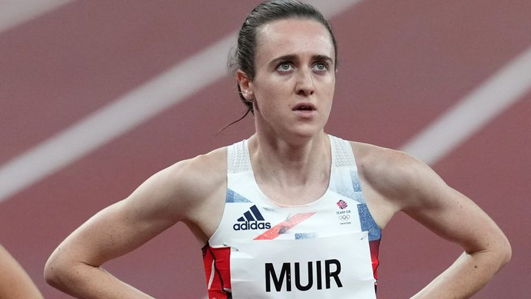 Muir finished second in her 1500m semi-final