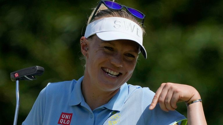 Madelene Sagstrom holds the early lead in Japan