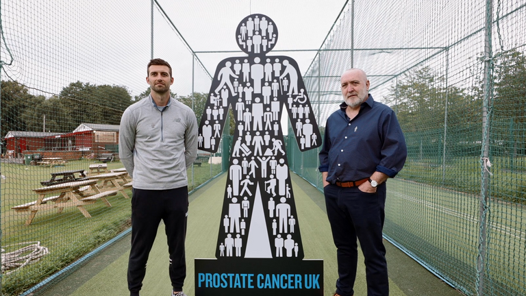 Mark Wood and his dad Derek Ben. Prostate Cancer UK celebrates the importance of men showing appreciation for one another.