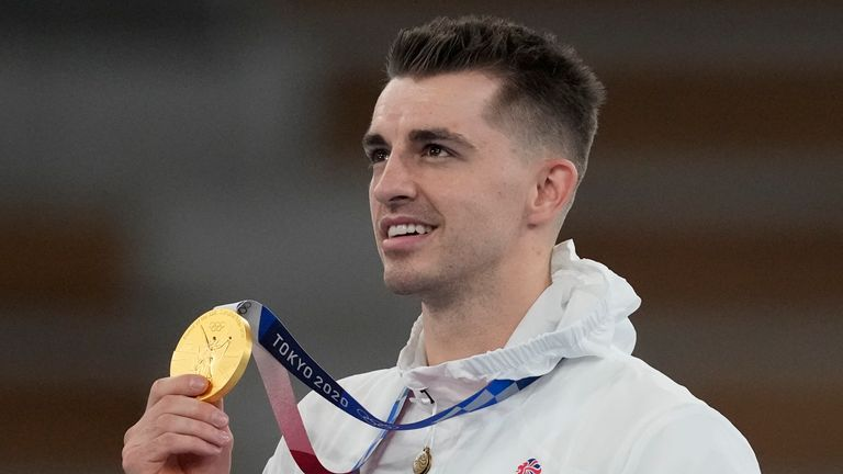 Max Whitlock retained his Olympic gold medal on the pommel horse