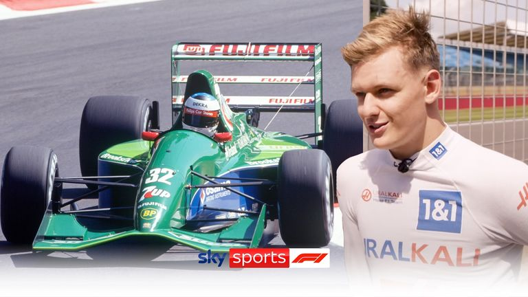 Mick Schumacher gets to drive the car his father Michael made his F1 debut in 30 years ago.