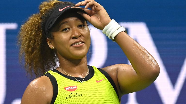 Naomi Osaka kicked off her US Open title defence with a straight sets win (Garrett Ellwood/USTA)