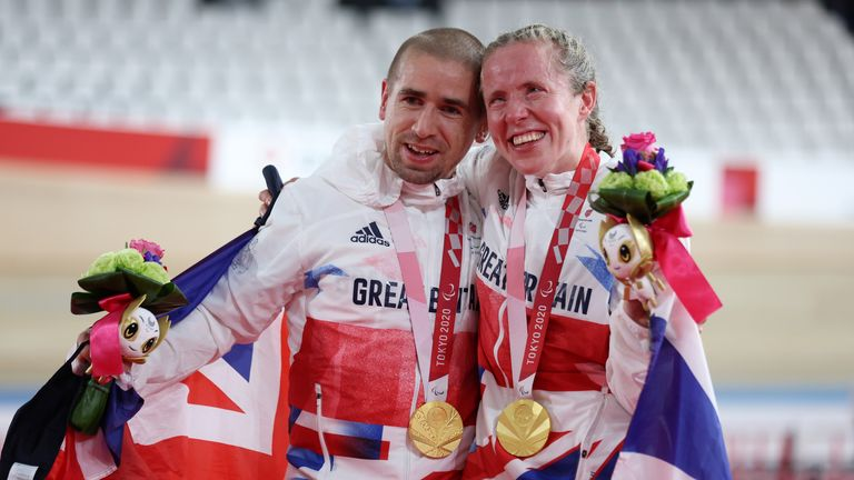 Gold medals for Neil and Lora Fachie added to team gold ParalympicsGB won in the mixed C1-5 sprint on Saturday