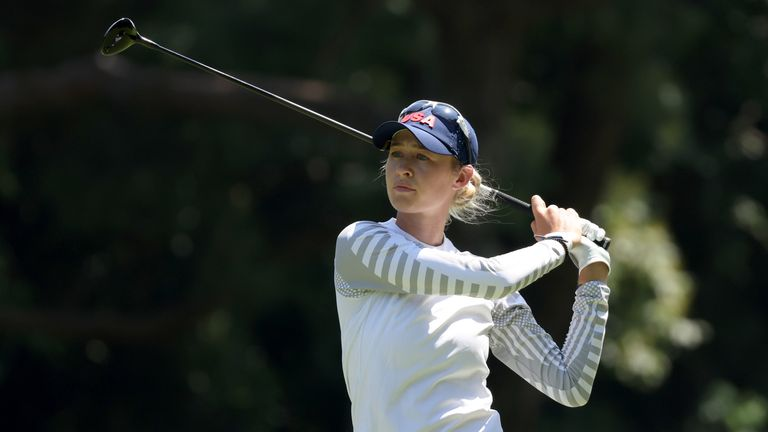 Korda is bidding to follow up her first major victory at the Women's PGA Championship in June