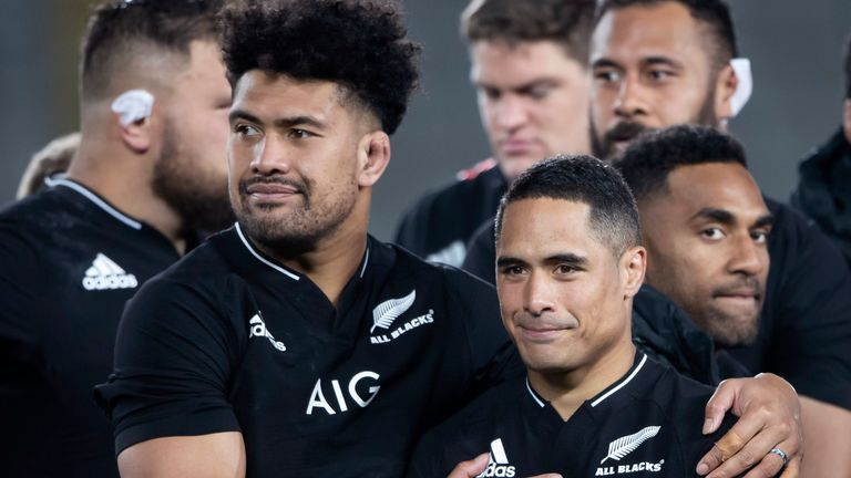 Ardie Savea (left) returns to captain the side, but Aaron Smith (right) will miss the rest of the Rugby Championship and likely the northern hemisphere tour