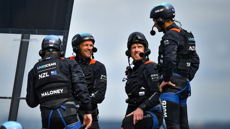 New Zealand's team are also boosted ahead of this fourth event of the season (Image credit - Ricardo Pinto for SailGP)