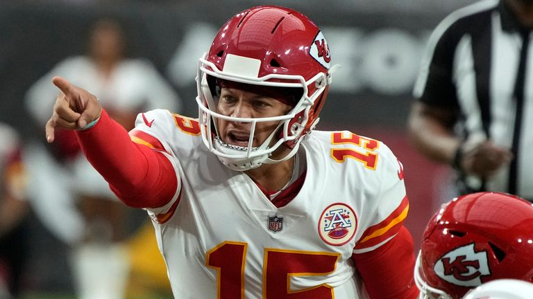 Mahomes led the Chiefs offense to No. 1 status in 2021 (AP)