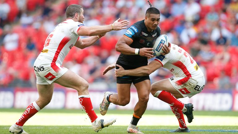 Peter Mata'utia was on the losing side when the Tigers lost to Saints in the Challenge Cup Final