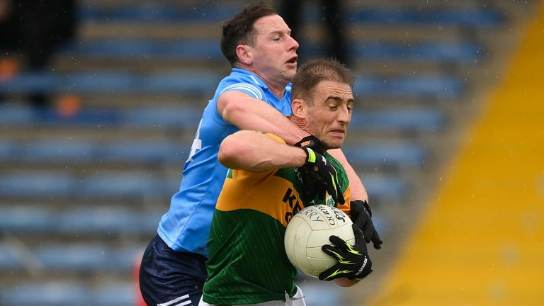 McMahon in action against Kerry during the National League