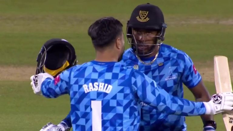 Rashid Khan and Chris Jordan were there at the end as Sussex beat Yorkshire to make Finals Day