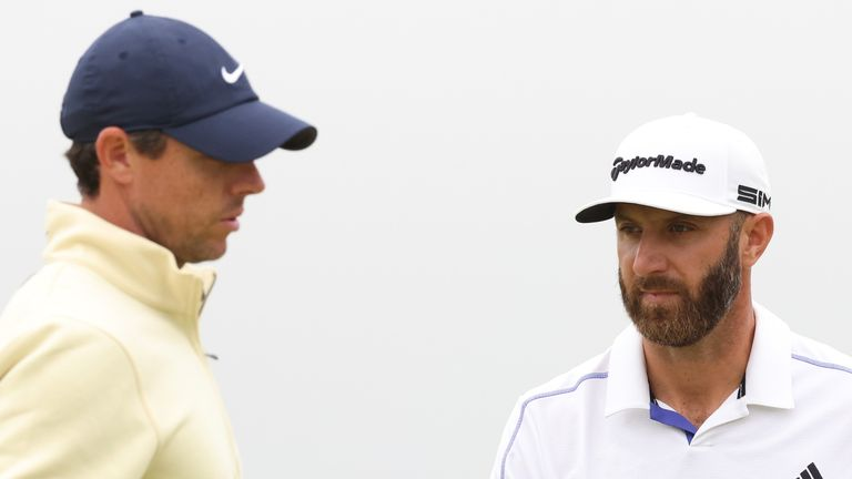 Rory McIlroy and Dustin Johnson are both former winners of the FedExCup