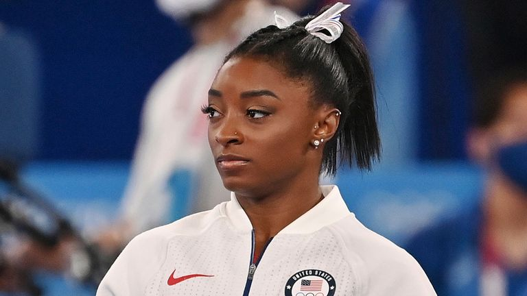 Simone Biles withdrew from five of her six finals at Tokyo 2020 to focus on her mental health