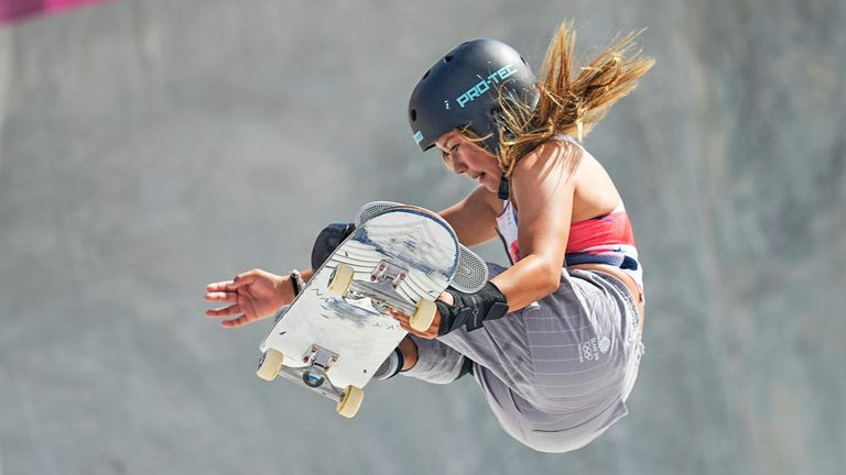 Geraint Hughes says 13-year-old Sky Brown's skateboarding bronze medal is more remarkable given her recovery from serious injuries