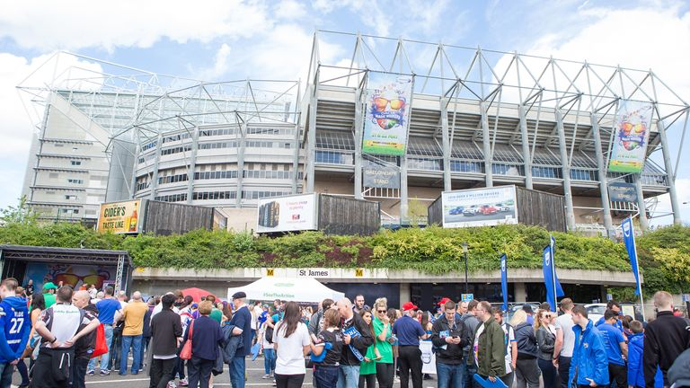 Newcastle first hosted Super League's Magic Weekend in 2015