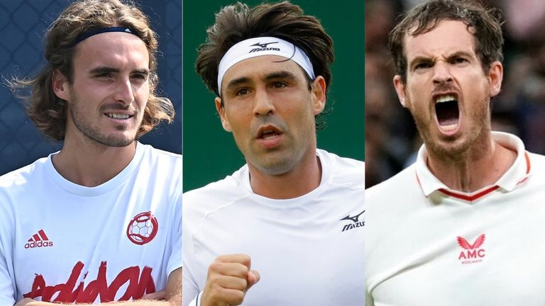 Marcos Baghdatis (centre) gives his lowdown on Andy Murray's crunch US Open clash against Stefanos Tsitsipas