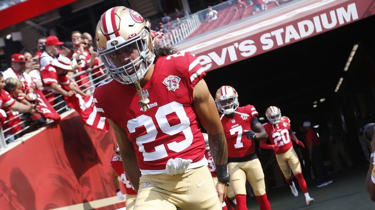 Talanoa Hufanga is fighting for a spot on the 49ers roster (Photo by Michael Zagaris/San Francisco 49ers/Getty Images)