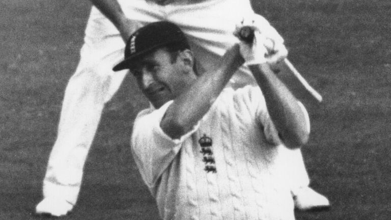 England captain Ted Dexter on the offensive during the first Test of the 1964 Ashes