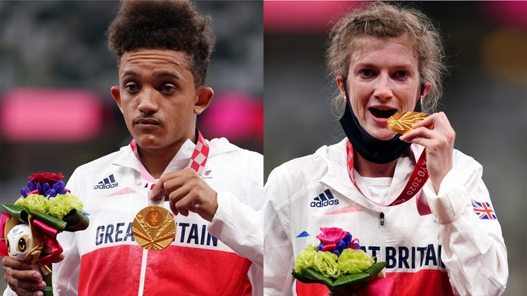 Thomas Young and Sophie Hahn both won Paralympic titles in the T38 100m events in Tokyo
