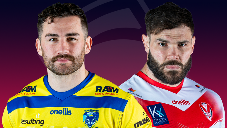 The clash between Warrington and St Helens is one of two live Super League games on Monday