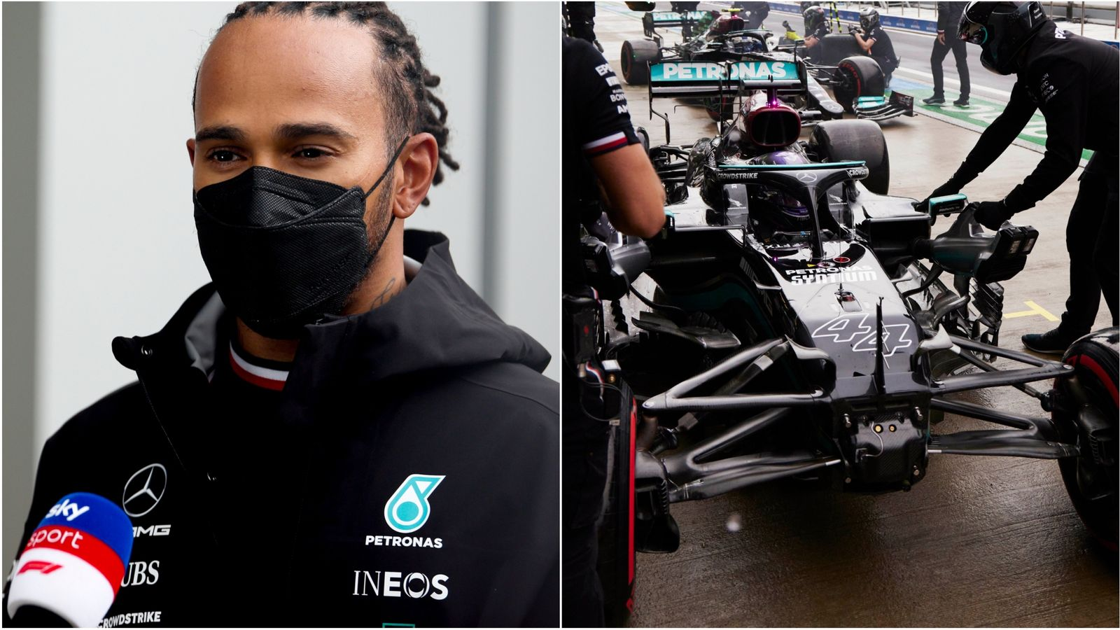 Russian GP: Lewis Hamilton says mistakes 'not what you expect from a champion' after dropping to fourth in qualifying