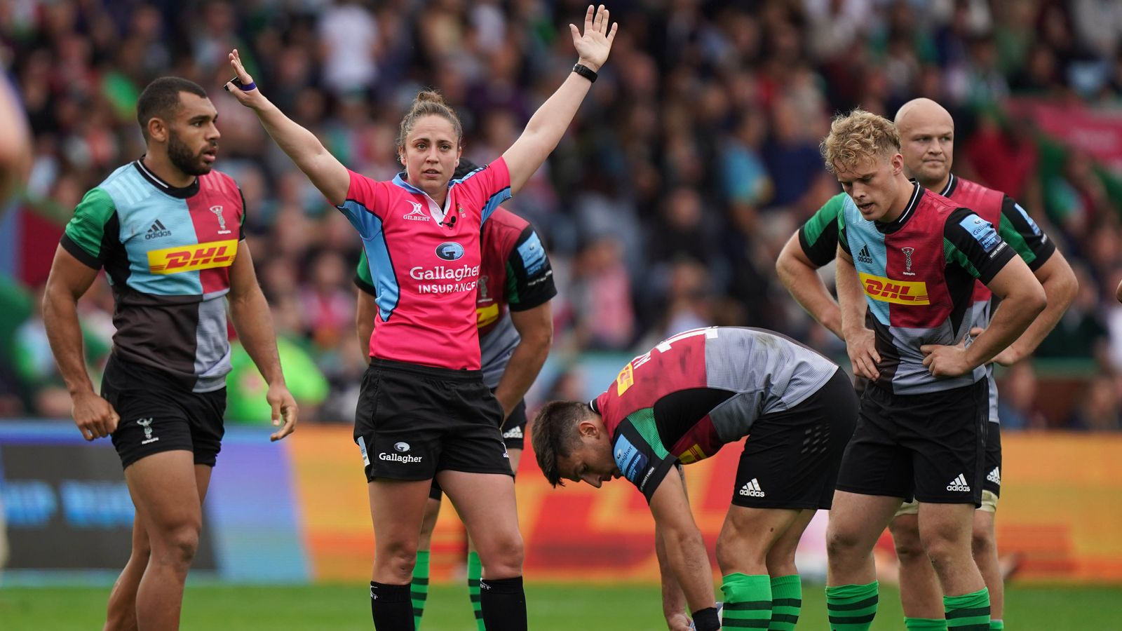 Sara Cox: Gallagher Premiership's first female referee striving to stay at the top of the game