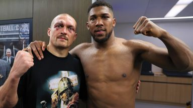 Usyk and Joshua showed respect afterwards