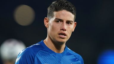 James Rodriguez has left Everton without playing a match under new manager Rafael Benitez