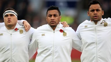 Saracens trio Jamie George (left), Mako Vunipola (centre) and Billy Vunipola (right) have been overlooked for England's Autumn squad
