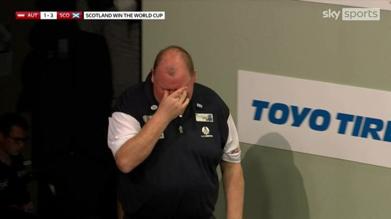 Scotland beat Austria to win the World Cup, with the emotions running high between John Henderson and Peter Wright.