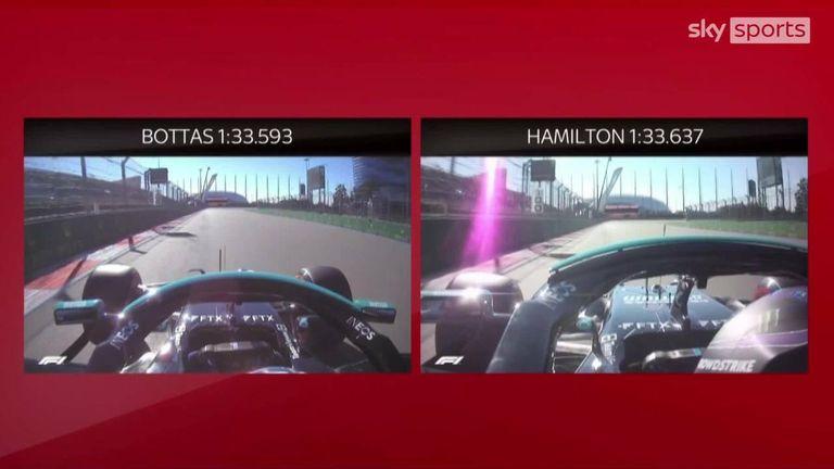 アンソニーデビッドソンは、ロシアグランプリ前の2回目の練習で、バルテリボッタスとルイスハミルトンのファステストラップを比較します。