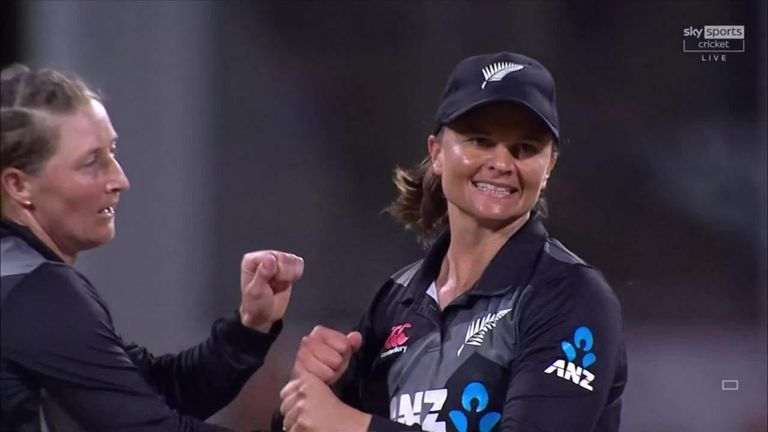 Heather Knight's late dismissal rocked England but her side still completed a dour-wicket win