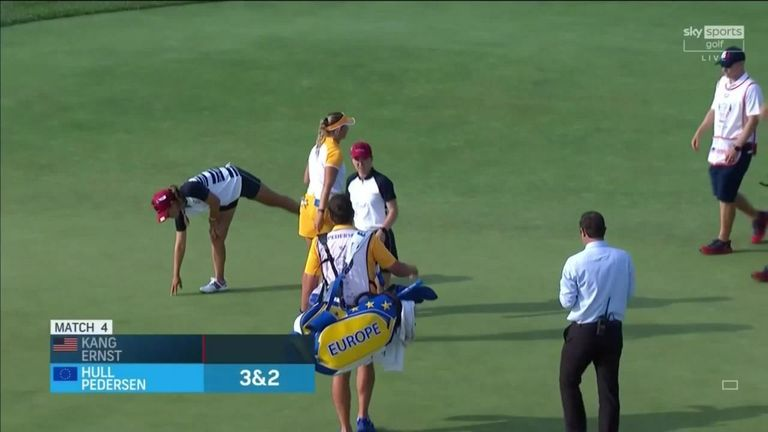 Highlights of Charley Hull and Emily Pedersen's 3&2 victory over Austin Ernst and Danielle Kang