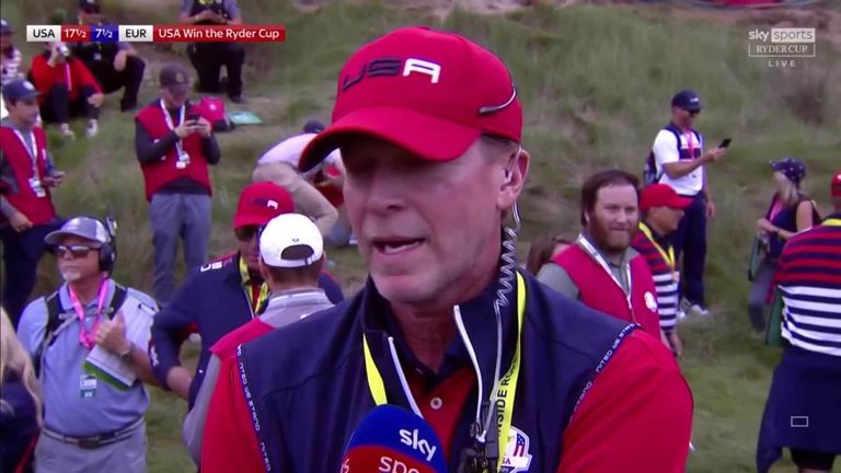 Steve Stricker reflects on his American side completing a comprehensive victory in the Ryder Cup and hails the players for their success at Whistling Straits.