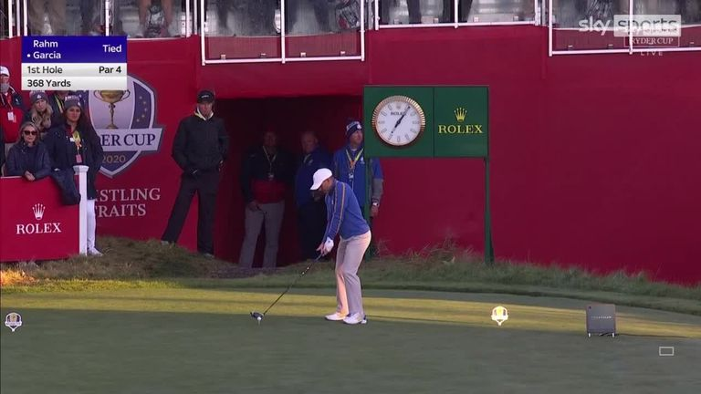 Sergio Garcia and Justin Thomas hit the opening tee shots of the Friday foursomes to officially get the 43rd Ryder Cup underway at Whistling Straits.