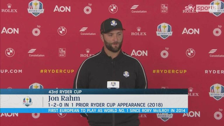World No 1 Jon Rahm explains why the Ryder Cup means so much to him and the pressure he feels in following a long line of Spanish players to represent Europe.