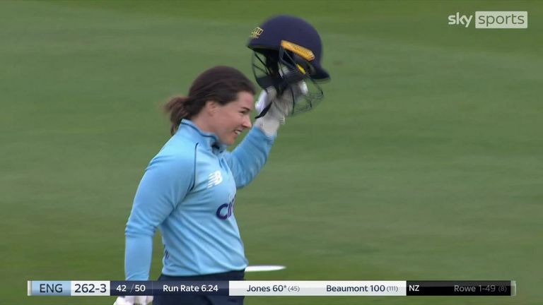 What the best of Beaumont's second international ton on her home ground