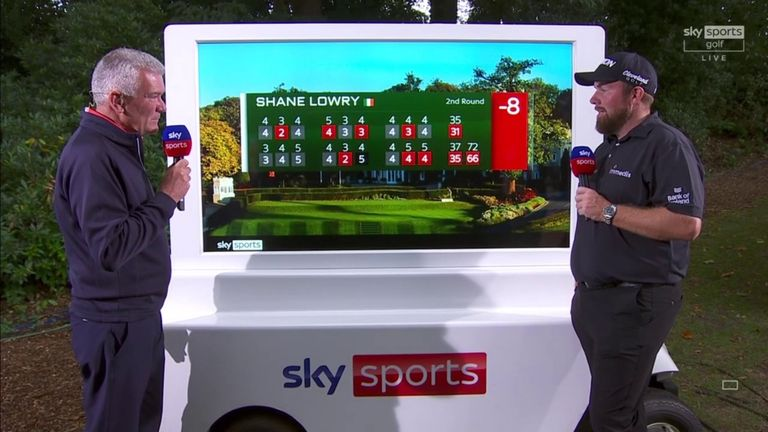 Shane Lowry was pleased to card a six-under 66 in the second round of the BMW PGA Championship as he plays under the pressure of trying to secure a Ryder Cup place