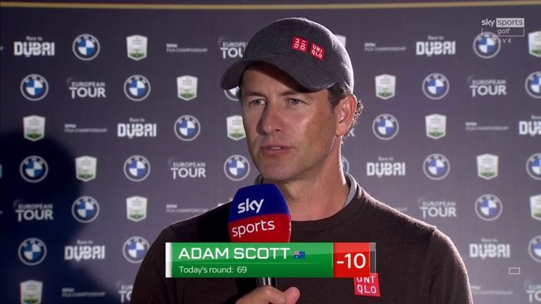 Adam Scott said 'two good days' work' has put him in a strong position on 10 under