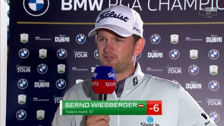Bernd Wiesberger said he felt comfortable as he safely made the cut at the BMW PGA Championship with a five-under 67