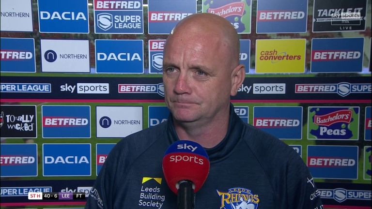 Richard Agar felt that Leeds played like they were 'rabbits in the headlights' after a crushing 40-6 defeat to St Helens